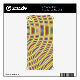 fancy swirl colorful design to brighten the day iPhone 4S decals