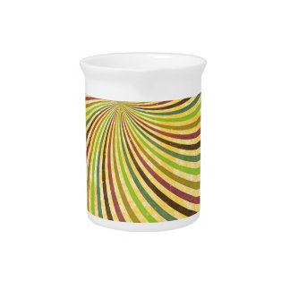 fancy swirl colorful design to brighten the day pitcher