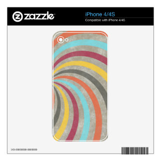 fancy swirl colorful design to brighten the day skins for iPhone 4
