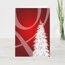 Fancy Swirl Tree Holidays Christmas Xmas Design Holiday Card