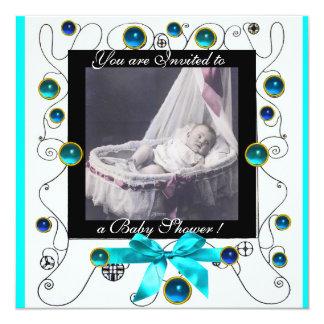 FANCY SWIRLS BABY SHOWER MONOGRAM,photo template