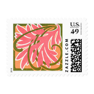 Fancy Swirly Leaf Postage