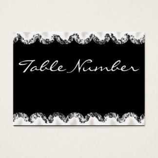 Fancy Table Number Card