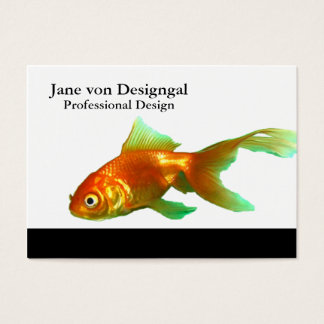 Fancy tail oranda goldfish business card