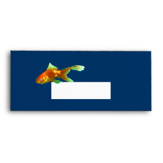 Fancy tail oranda goldfish envelope