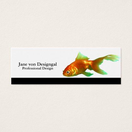 Fancy tail oranda goldfish mini business card