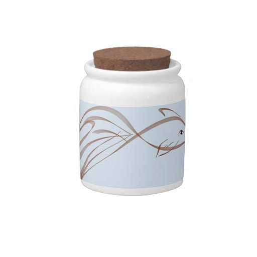 Fancy tailed goldfish candy jars