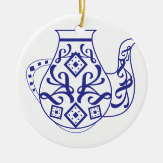 Fancy Teapot Ceramic Ornament