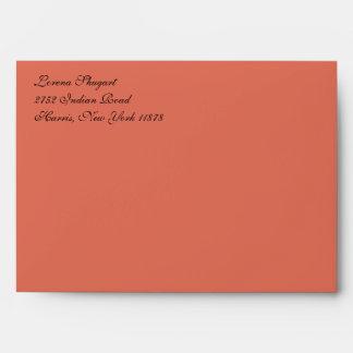 Fancy Terra Cotta A7 Return Address Envelopes