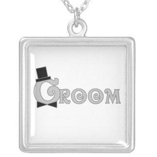 Fancy Text Groom Jewelry
