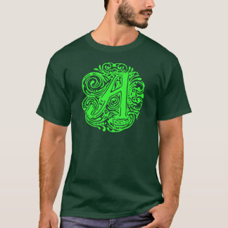 "Fancy Text, Monogram, Letter A, Monarchia ""A"" T-Shirt"