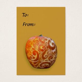 Fancy Thanksgiving Pumpkin Tag! Business Card