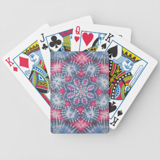 Fancy Tie Dye Bicycle Playing Cards