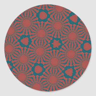 fancy tile classic round sticker