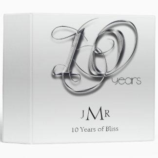 Fancy Tin 10th Wedding Anniversary Binder