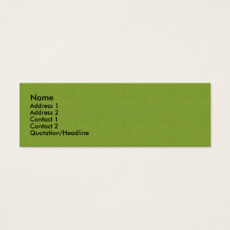 Fancy tiny yellow circles on dark green background mini business card