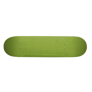 Fancy tiny yellow circles on dark green background skateboard deck