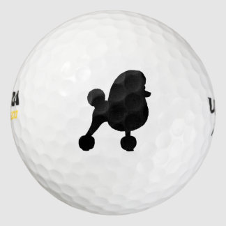 Fancy Toy Poodle Silhouette Golf Balls