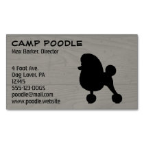 Fancy Toy Poodle Silhouette Magnetic Business Card