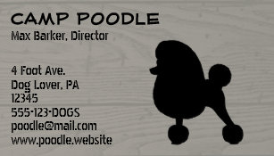 Fancy business cards 4500 fancy business card templates fancy toy poodle silhouette magnetic business card colourmoves