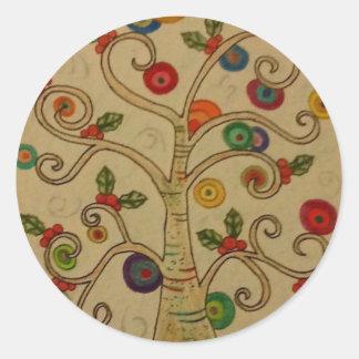 Fancy Tree Classic Round Sticker