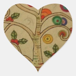 Fancy Tree Heart Sticker