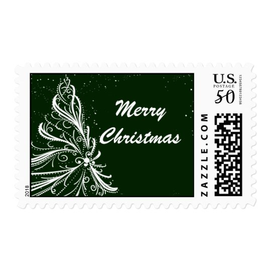 Fancy Tree Holiday Christmas Postage Stamps