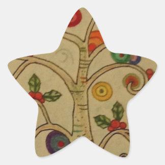 Fancy Tree Star Sticker