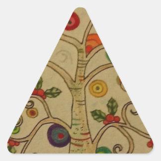 Fancy Tree Triangle Sticker