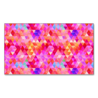 Fancy Triangles Magnetic Business Card