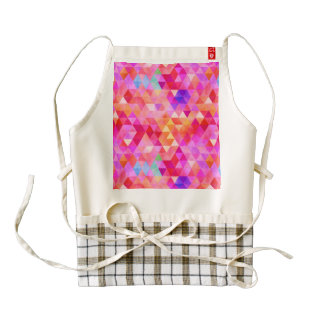 Fancy Triangles Zazzle HEART Apron