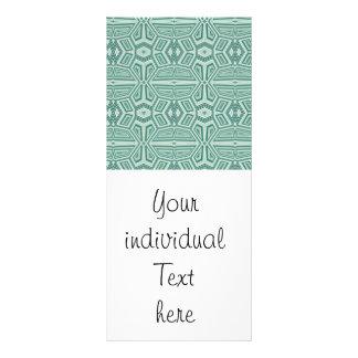Fancy Tribal Pattern,aqua Rack Card Template