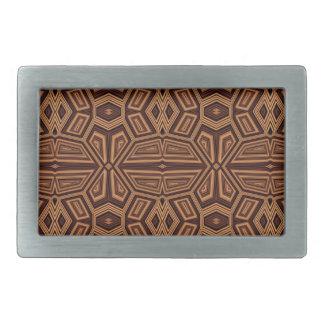 Fancy Tribal Pattern,brown Belt Buckle