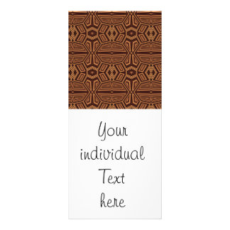 Fancy Tribal Pattern,brown Custom Rack Cards