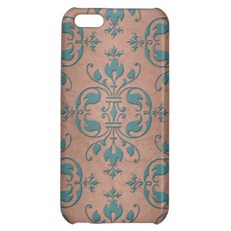 Fancy Turquoise over Brownish Copper Damask iPhone 5C Cover