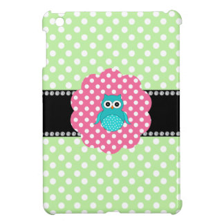 Fancy turquoise owl case for the iPad mini