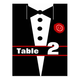 Fancy Tux Table Number Card 2