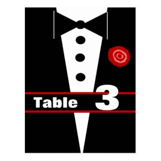 Fancy Tux Table Number Card 3