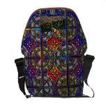 Fancy Twelve part pattern tile design Bike Rider Messenger Bag
