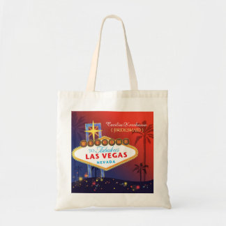 Fancy Twilight Las Vegas Wedding Bridesmaids Gift Tote Bag