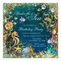 Under the sea birthday party invitations announcements zazzle fancy under the sea birthday party filmwisefo