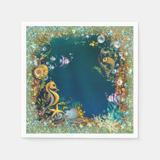 Fancy Under The Sea Birthday Party Paper Napkin