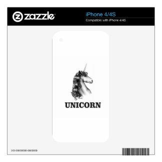 fancy unicorn gray iPhone 4S decals