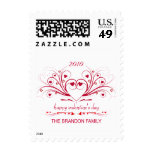 Fancy Valentine's Day Customized Postage Stamps