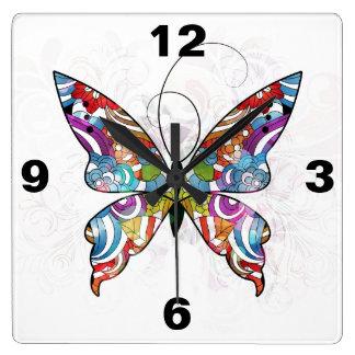 Fancy vector butterfly Clock