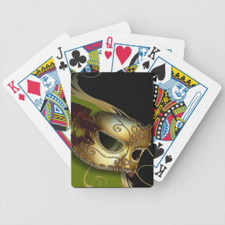 Fancy Venetian Masquerade olive | gold Deck Of Cards