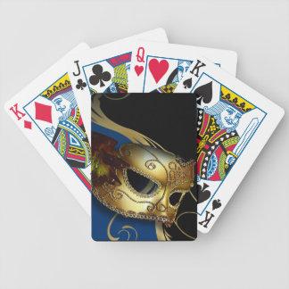 Fancy Venetian Masquerade royal blue | gold Bicycle Card Decks