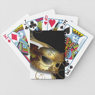 Fancy Venetian Masquerade white | gold Bicycle Poker Cards