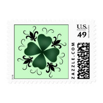 Fancy victoian shamrock St Patricks Day Postage Stamp