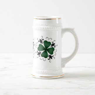 Fancy victorian shamrock St Patricks Day Beer Stein
